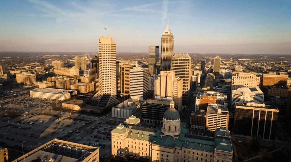Indianapolis Aerial Skyline